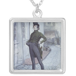 Mr. Alfred Jingle Silver Plated Necklace