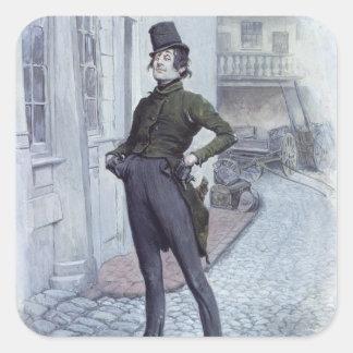 Mr. Alfred Jingle Square Sticker