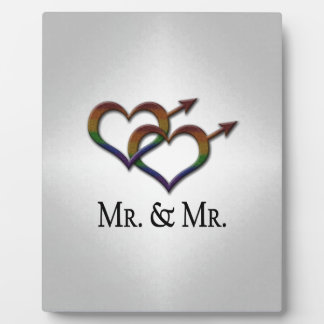 Mr. and Mr. Gay Pride Display Plaque