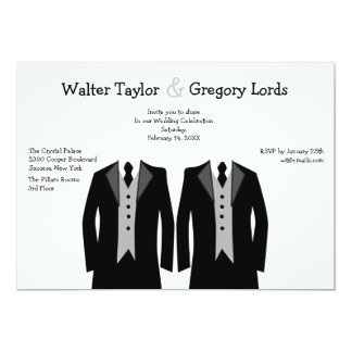 Mr. and Mr. Gay Wedding Invitation