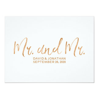 """Mr. and Mr."" Gay Wedding Sign 