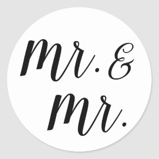 Mr. and Mr. stickers