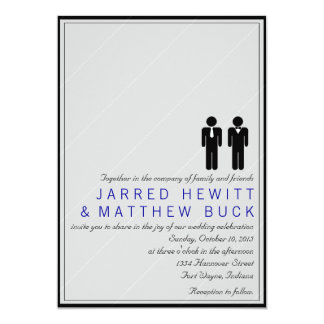 Mr. and Mr. Two Grooms Wedding Invitation