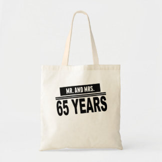 Mr. And Mrs. 65 Years Tote Bag