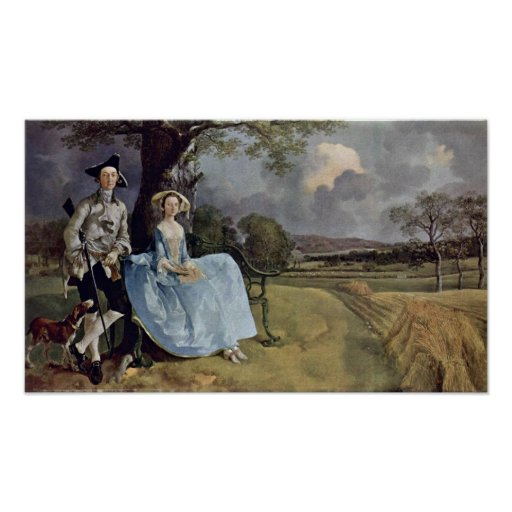 mr and mrs andrews by thomas gainsborough zazzle. Black Bedroom Furniture Sets. Home Design Ideas