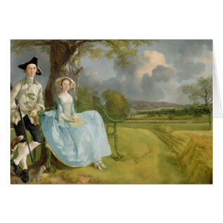 Mr and Mrs Andrews, c.1748-9 Greeting Card