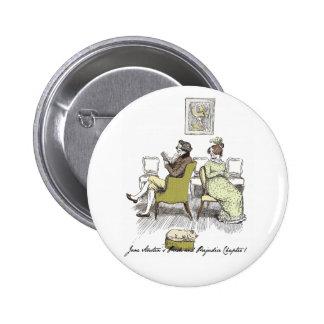 Mr and Mrs Bennet P&P Jane Austen 6 Cm Round Badge