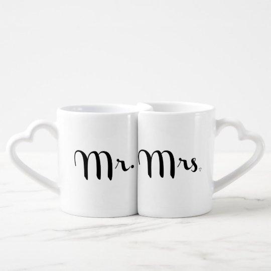 Mr. and Mrs. Black on White Coffee Mug