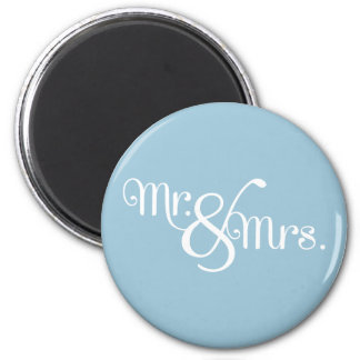 Mr. and Mrs. Classy White on Sky 2 Inch Round Magnet