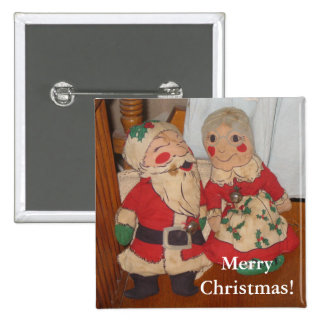 Mr and Mrs Claus Button