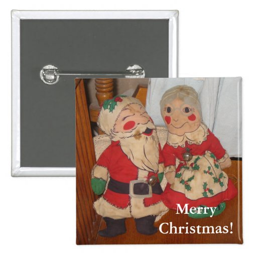 Mr. and Mrs. Claus Button