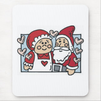 Mr. and Mrs. Claus Mouse Pad