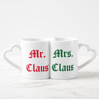 Mr. and Mrs. Claus Mugs
