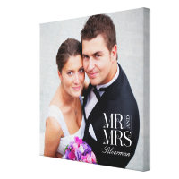 Mr and Mrs Custom Photo Canvas Canvas Print