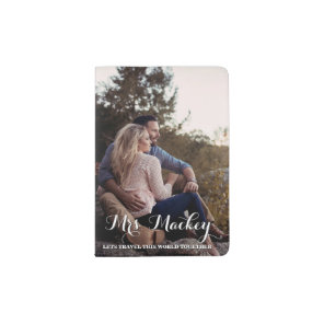 Mr and Mrs His and Hers Atlas Photo Passport Holder