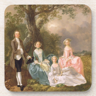 Mr and Mrs John Gravenor and their Daughters, Eliz Beverage Coasters
