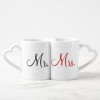 Mr. and Mrs. Lovers' Mug Set Lovers Mug Sets
