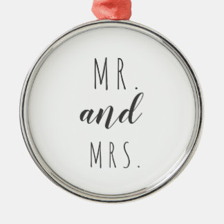Mr. and Mrs. modern farmhouse ornament