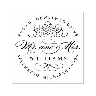 Mr. and Mrs. Monogram | Return Address Self-inking Stamp