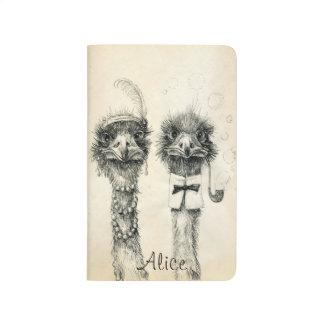 Mr. and Mrs. Ostrich 2014 2015  calendar Journal