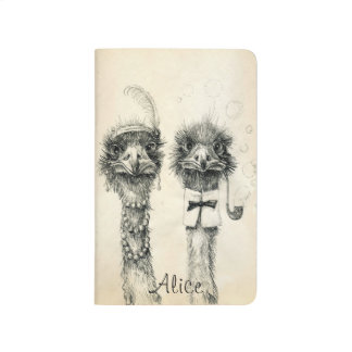 Mr. and Mrs. Ostrich 2015 2016  calendar Journals