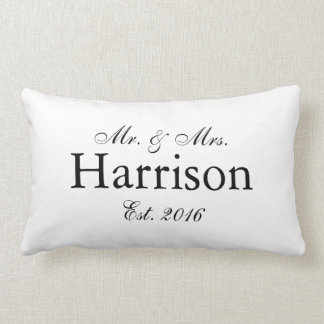Mr. and Mrs. Personalised Wedding Pillow2 Lumbar Cushion