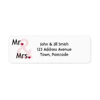 Mr and Mrs personalized address labels