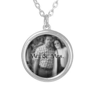 Mr. and Mrs. Personalized Bride and Groom Photo Pendants