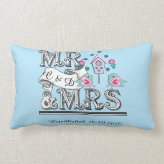 Mr and Mrs Personalized Wedding Gift Throw Cushions