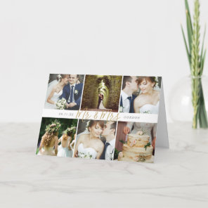Mr. and Mrs. Photo Collage Wedding Thank You Cards