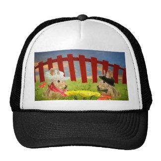 Mr and Mrs Rabbit Mesh Hats