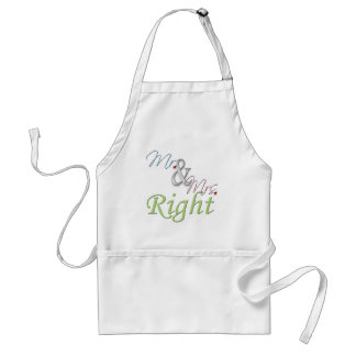Mr. and Mrs. Right Standard Apron