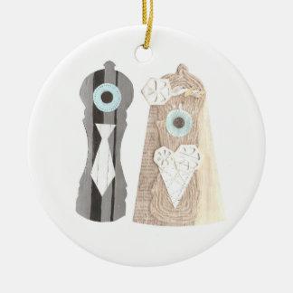 Mr and Mrs Salt n Pepper Ornament