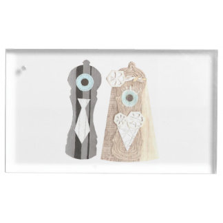 Mr and Mrs Salt n Pepper Table Card Holder