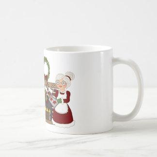 Mr and Mrs Santa Claus by Fireplace Mug