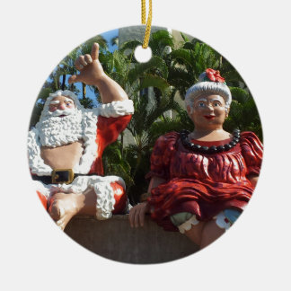 Mr and Mrs Santa Claus Christmas Ornament