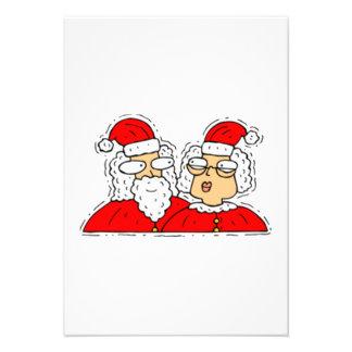 Mr and Mrs Santa Claus Announcement