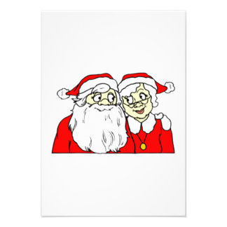 Mr and Mrs Santa Claus Custom Invites