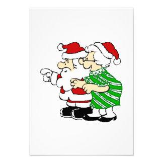 Mr and Mrs Santa Claus Custom Announcements