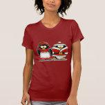 Mr. and Mrs. Santa Claus Penguin Tshirt