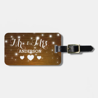 Mr and Mrs Shabby Chic Heart Old Vintage Wedding Bag Tag