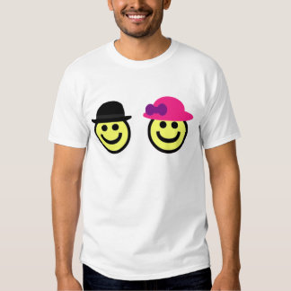 Mr. and Mrs.Smiley Face T shirt
