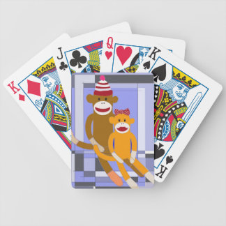 Mr. and Mrs. Sock Monkey. Bicycle Playing Cards