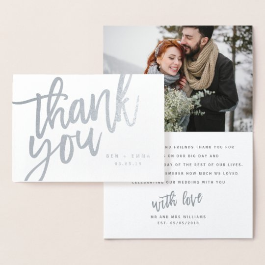 MR AND MRS THANK YOU CARD (PHOTO)