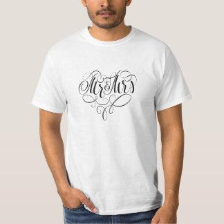 Mr and Mrs wedding monogram T-Shirt