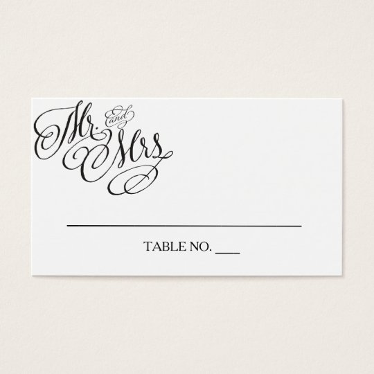Mr. and Mrs. Wedding Placecards Business Card