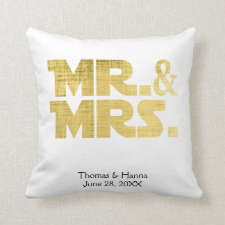 Mr and Mrs Wedding Throw Pillow