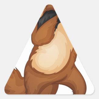 mr anteater triangle sticker