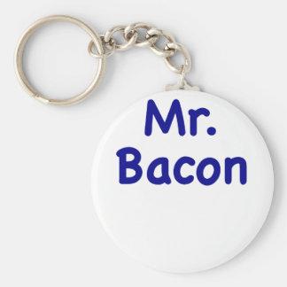 Mr. Bacon Key Ring