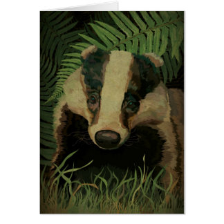 Mr. Badger Card